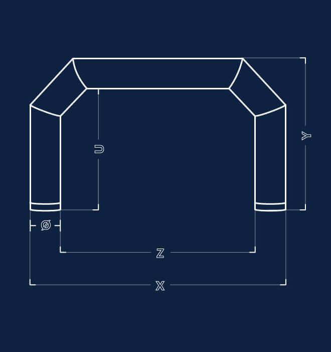 Dimensiuni porți gonflabile Axion