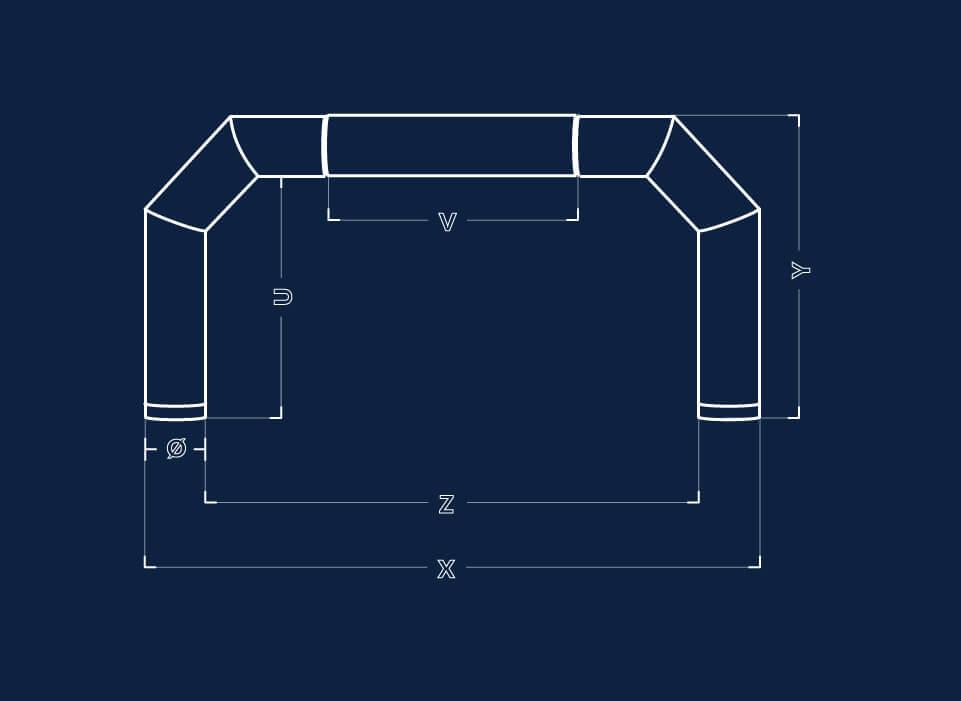 Dimensiuni porti gonflabile
